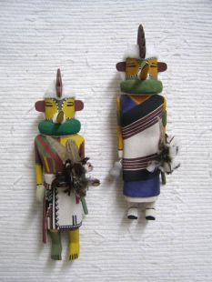 Old Style Hopi Carved Chicken Traditional Katsina Dolls