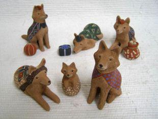 Mata Ortiz Handbuilt and Handpainted Coyote Nativity