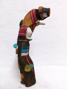 Native American Hopi Carved Grandmother Katsina Sculpture
