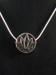 Native American Apache Made Pendant--Lotus Flower