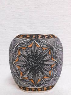 Native American Acoma Handpainted Pillow Vase