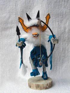 Native American Navajo Made Fox Kachina Dancer Doll