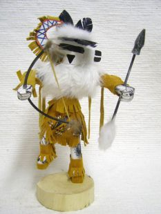 Native American Navajo Made Zuni Rain Priest Kachina Doll
