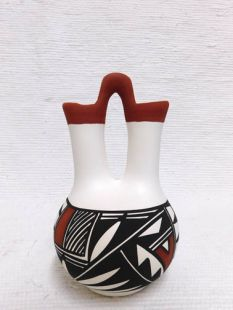 Native American Acoma Handpainted Wedding Vase