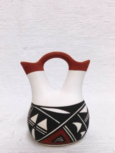 Native American Acoma Handpainted Wedding Vase--Small