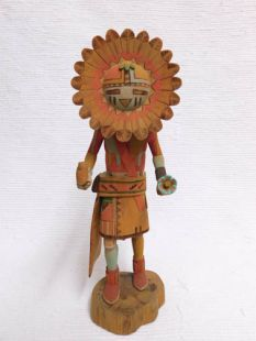 Vintage Native American Hopi Carved Sunface Katsina Doll