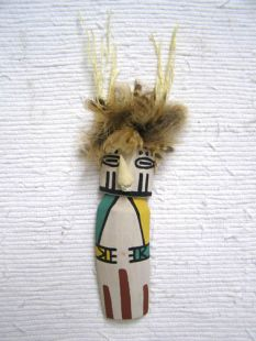 Old Style Hopi Carved Warrior Maiden Katsina Doll--Old Oraibi