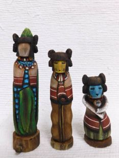 Native American Hopi Carved Three Sisters Sculptures--F