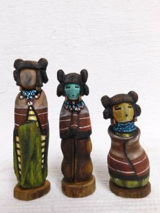 Native American Hopi Carved Three Sisters Sculptures--G
