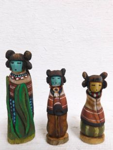 Native American Hopi Carved Three Sisters Sculptures--H