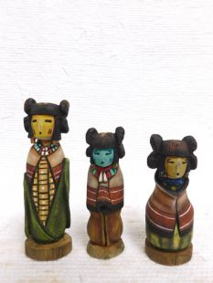 Native American Hopi Carved Three Sisters Sculptures--K