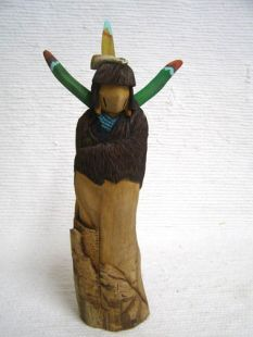 Native American Hopi Carved Buffalo Maiden Katsina Sculpture