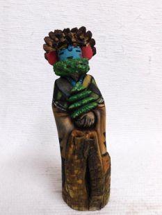 Native American Hopi Carved Silent Warrior Dancer Katsina Sculpture