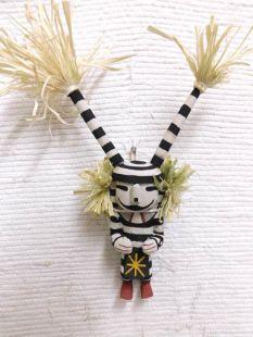 Old Style Hopi Carved Clown Traditional Katsina Doll
