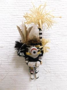 Old Style Hopi Carved Half Harvester Half Clown Traditional Katsina Doll