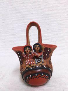 Native American Jemez Handbuilt and Handpainted Wedding Vase
