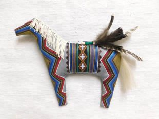 Navajo Made Soft Sculpture Chief Horse