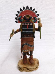 Native American Hopi Carved Broadface Guard Katsina Doll