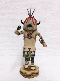 Native American Hopi Carved Buffalo Dancer Katsina Doll