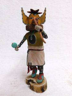Native American Hopi Carved Fox Runner Katsina Doll