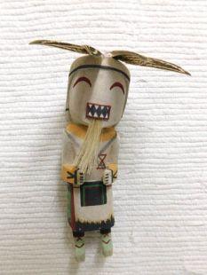 Old Style Hopi Carved Chakwaina Traditional Warrior Katsina Doll