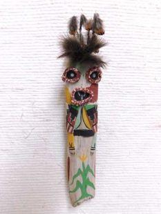 Old Style Hopi Carved Maasaw Traditional Death Katsina Doll