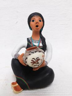 Native American Acoma Storyteller Maiden with Pot