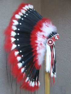 Native American Made Red Moon Warbonnet