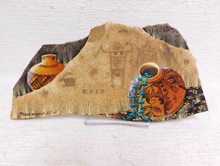 Native American Hopi Painted Flagstone
