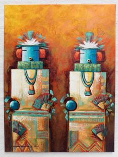 Native American Made Double Yei Painting