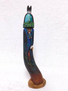 Native American Hopi Carved Yeibichai Talking God Dancer Sculpture--Double
