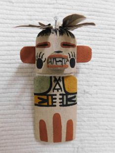 Old Style Hopi Carved Bear Traditional Powerful Healer Katsina Doll Ornament
