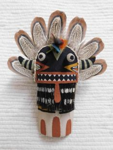Old Style Hopi Carved Broadface Traditional Guard Katsina Doll Ornament