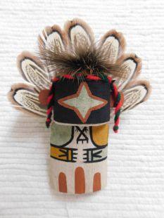 Old Style Hopi Carved Chasing Star Traditional Planetary Katsina Doll Ornament