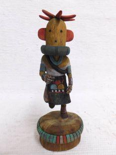 Native American Hopi Carved Chili Pepper Racer Katsina Doll
