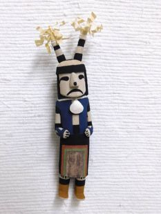 Old Style Hopi Carved Clown Traditional Katsina Doll--Sad