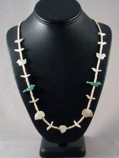 Native American Hopi/Zuni Made Fetish Necklace