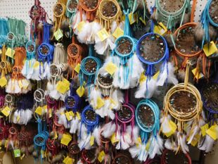 Native American Navajo Made Dreamcatchers--Spirit Stone