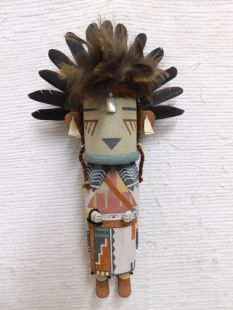 Old Style Hopi Carved Silent Warrior Traditional Dancer Katsina Doll