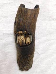 Mahogany Pod Owl on Wood--Two