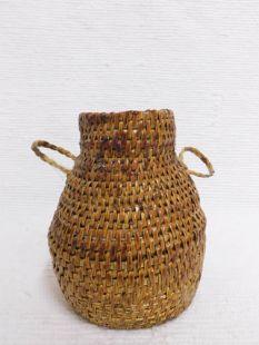 Vintage Native American Navajo Made Pitch Basket