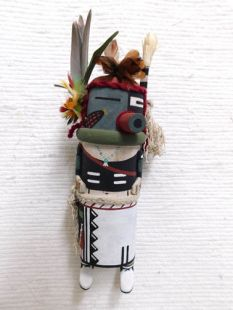 Old Style Hopi Carved Half Harvester Half Clown Traditional Katsina Doll