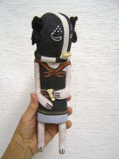 Old Style Hopi Carved Kokopelli Mana Traditional Racer Katsina Doll