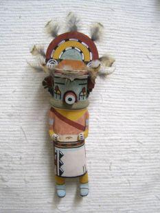 Old Style Hopi Carved Rainbow Traditional Katsina Doll