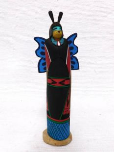 Native American Hopi Carved Butterfly Maid Katsina Sculpture