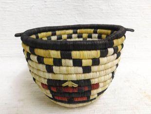 Native American Hopi Made Figurative Coil Basket with Dragonfly Katsina