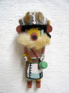 Old Style Hopi Carved Cocklebur Traditional Runner Katsina Doll
