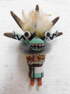 Old Style Hopi Carved Ogre (Tyrannosaurus Rex) Traditional Guard Katsina Doll
