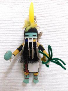 Old Style Hopi Carved Longhair Traditional Rain Dancer Katsina Doll