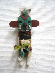 Old Style Hopi Carved Parrot Traditional Bird Katsina Doll